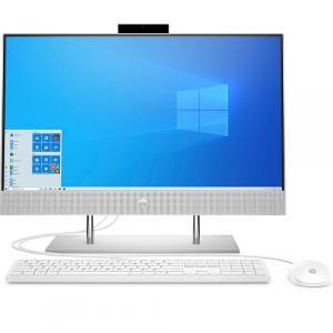 "HP 24 Series 23.8"" Touchscreen All-in-One Desktop Computer AMD Ryzen 5 12GB RAM 512GB SSD Natural Silver"