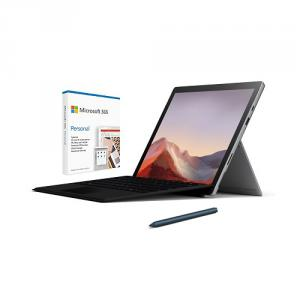 """Microsoft Surface Pro 7 12.3"""" Intel Core i5 8GB RAM 128GB SSD Platinum + Surface Pro Signature Type Cover Black+Surface Pen Cobalt Blue+Microsoft 365 Personal 1 Year Subscription For 1 User"""