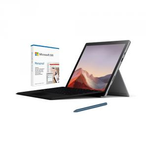 """Microsoft Surface Pro 7 12.3"""" Intel Core i5 8GB RAM 128GB SSD Platinum + Surface Pro Signature Type Cover Black+Surface Pen Ice Blue+Microsoft 365 Personal 1 Year Subscription For 1 User"""