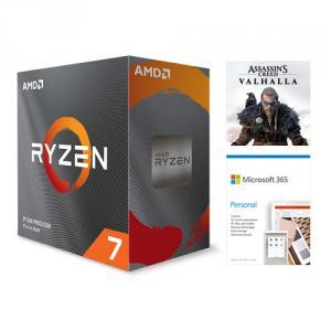 AMD Ryzen 7 3800XT Unlocked Desktop Processor without cooler + Microsoft 365 Personal 1 Year Subscription For 1 User + Assassin's Creed Valhalla Ryzen Token Code