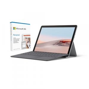 """Microsoft Surface Go 2 10.5"""" Intel Core m3 8GB RAM 128GB SSD LTE Platinum + Surface Go Signature Type Cover Platinum + Microsoft 365 Personal 1 Year Subscription For 1 User"""