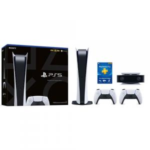 PlayStation 5 Digital Edition + DualSense Wireless controller + HD Camera + PlayStation Plus 12 Month Membership (Email Delivery)