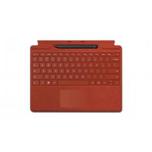 Microsoft Surface Pro X Signature Keyboard Poppy Red with Slim Pen