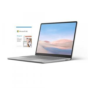"""Microsoft Surface Laptop Go 12.4"""" Touchscreen Intel Core i5 8GB RAM 128GB SSD Platinum + Microsoft 365 Personal 1 Year Subscription For 1 User"""