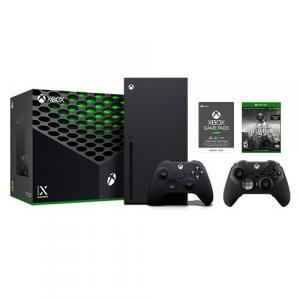 Xbox Series X 1TB SSD Console with Xbox Wireless Controller + Xbox Elite Wireless Series 2 Controller + PLAYERUNKNOWN'S BATTLEGROUNDS + Xbox Game Pass Ultimate 3 Month Membership (Email Delivery)