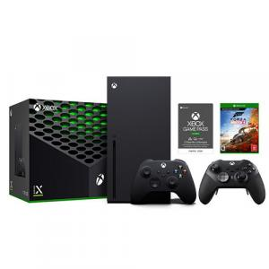 Xbox Series X 1TB SSD Console with Xbox Wireless Controller + Xbox Elite Wireless Series 2 Controller + Forza Horizon 4 + Xbox Game Pass Ultimate 3 Month Membership (Email Delivery)