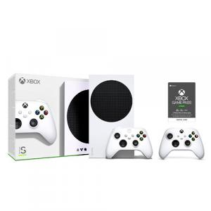 Xbox Series S 512GB SSD Console w/ Wireless Controller + Extra Xbox Wireless Controller Robot White + Xbox Game Pass Ultimate 3 Month Membership (Email Delivery)