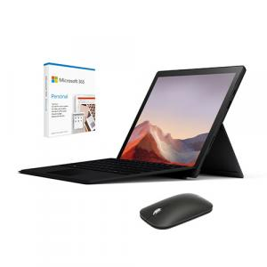 "Microsoft Surface Pro 7 12.3"" Intel Core i5 8GB RAM 256GB SSD Matte Black + Surface Pro Signature Type Cover Black + Microsoft Modern Mobile Mouse + Microsoft 365 Personal 1 Year Subscription For 1 User"