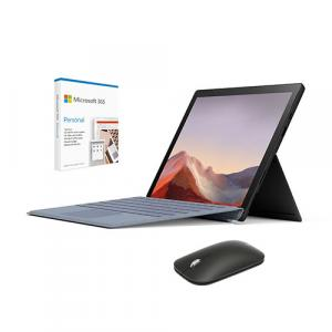 "Microsoft Surface Pro 7 12.3"" Intel Core i5 8GB RAM 256GB SSD Matte Black + Microsoft Surface Pro Signature Type Cover Ice Blue + Microsoft Modern Mobile Mouse + Microsoft 365 Personal 1 Year Subscription For 1 User"
