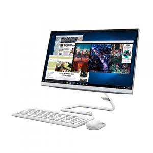 "Lenovo IdeaCentre 3 27"" Touchscreen All-In-One Desktop Computer Intel Pentium Gold G6400T 8GB RAM 1TB HDD White"