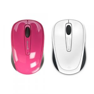 Microsoft 3500 Wireless Mobile Mouse Limited Edition White + Microsoft 3500 Wireless Mobile Mouse Limited Edition Pink