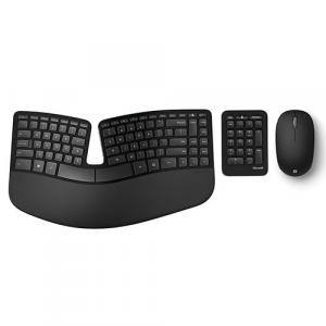 Microsoft Sculpt Ergonomic Keyboard Black + Bluetooth Mouse Matte Black