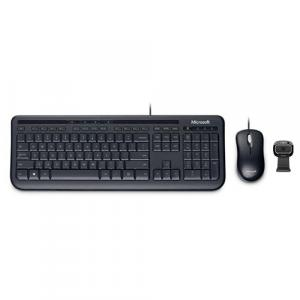 Microsoft Wired Desktop 600 Black + Microsoft LifeCam HD-3000 Webcam