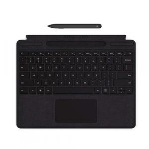 Microsoft Surface Slim Pen Black + Microsoft Surface Pro X Signature Keyboard with Black Slim Pen