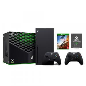 Xbox Series X 1TB SSD Console w/ Xbox Wireless Controller Black + Extra Xbox Wireless Controller Carbon Black + Forza Horizon 4 + Xbox Game Pass Ultimate 3 Month Membership (Email Delivery)