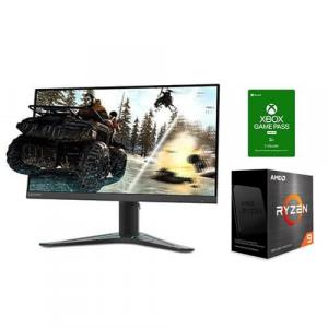 "AMD Ryzen 9 5900X 12-core 24-thread Desktop Processor + Microsoft Xbox Game Pass For PC 3 Month Membership (Email Delivery) + Lenovo G27Q 27"" QHD (2560 x 1440) IPS 165Hz 1ms MPRT Freesync Premium Gaming Monitor"