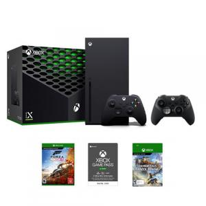 Xbox Series X 1TB SSD Console w/ Xbox Wireless Controller + Xbox Elite Wireless Series 2 Controller Black + Forza Horizon 4 Xbox One + Xbox Game Pass Ultimate 3 Month Membership (Email Delivery) + Immortals Fenyx Rising Xbox Series X|S/Xbox One (Emai