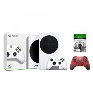 Xbox Series S 512GB SSD Console w/ Xbox Wireless Controller + Xbox Wireless Controller Daystrike Camo + Assassin's Creed Valhalla Standard Edition (Digital Download)