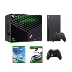 Xbox Series X 1TB SSD Console w/ Xbox Wireless Controller + Xbox Elite Wireless Series 2 Controller + Flight Simulator - Standard Edition + Forza Motorsport 7 - Standard Edition