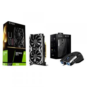 EVGA NVIDIA GeForce GTX 1650 4GB GDDR6 Graphic Card + EVGA X17 Wired Customizable Gaming Mouse