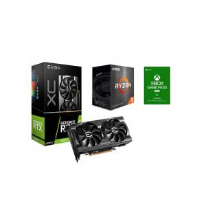 EVGA GeForce RTX 3060 Ti XC GAMING 8GB GDDR6 LHR Graphic Card + AMD Ryzen 5 5600X 6-core 12-thread Desktop Processor + Xbox Game Pass For PC 3 Month Membership (Email Delivery)