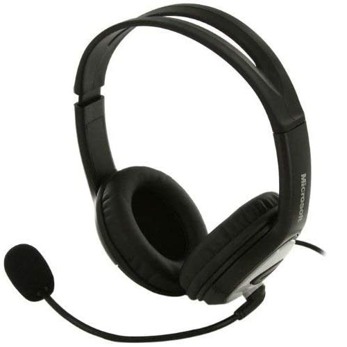 Microsoft LifeChat LX-3000 Digital USB Stereo Headset Noise-Canceling Microphone - Premium Stereo Sound - USB 2.0 - Leatherette Ear Pads - 6 ft Cable - Noise Cancelling Microphone