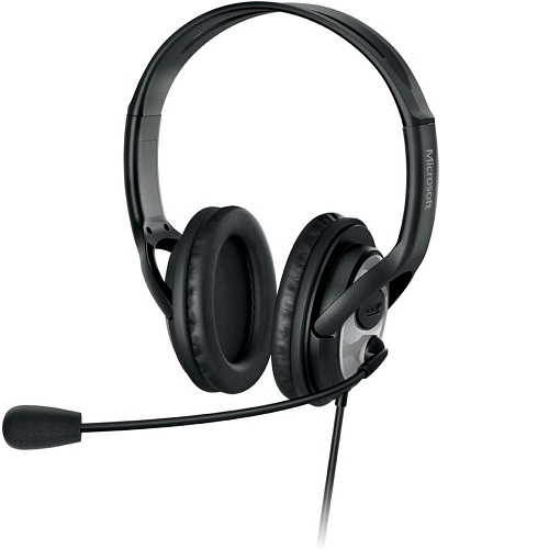 Microsoft LifeChat LX 3000 Digital USB Stereo Headset Noise Canceling Microphone   Premium Stereo Sound   USB 2.0   Leatherette Ear Pads   6 Ft Cable   Noise Cancelling Microphone