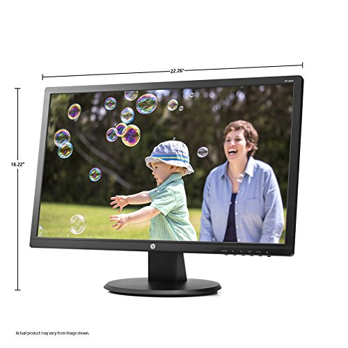 "HP 24uh 24"" Monitor Black   1920 X 1080 Full HD TN Display   60 Hz Refresh Rate   5 Ms Response Time   16:9 Aspect Ratio   LED Backlight Technology"