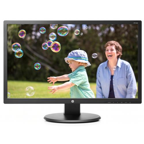 """HP 24uh 24"""" Monitor Black - 1920 x 1080 Full HD TN display - 60 Hz refresh rate - 5 ms response time - 16:9 aspect ratio - LED Backlight technology"""