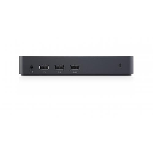 Dell Docking Station D3100 - for Notebook - USB 3.0 - 5 x USB Ports - 2 x USB 2.0 - 3 x USB 3.0 - Network (RJ-45) - HDMI - DisplayPort