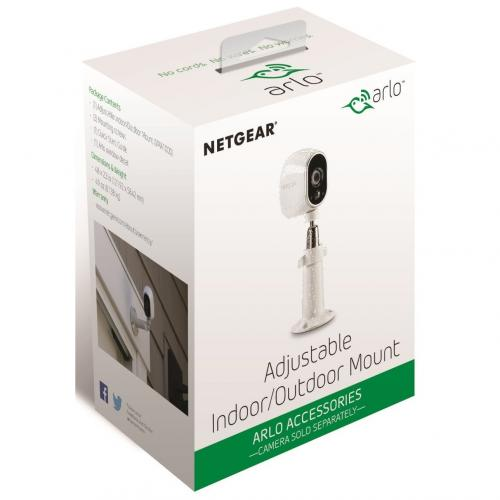 Arlo Ceiling Mount For Network Camera(White)     Wall Or Ceiling Mount   Extends 5 In From The Mounting Surface   Easily Adjustable With 360 Degree Swivel & 90 Degree Tilt   Compatible With Arlo/Arlo Pro/Arlo Pro 2/Arlo Go/Arlo Lights