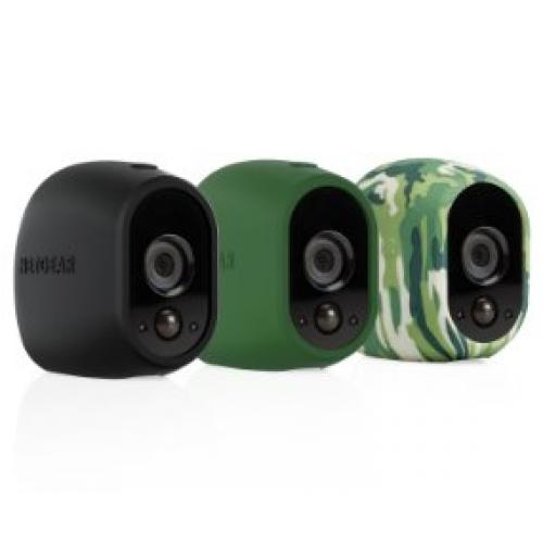 Arlo Replaceable Multi-colored Silicone Skins Black & Camouflage Green -  Replaceable Silicone Skins - Available in black/green/camouflage - UV and water resistant - Ideal for indoor/outdoor use - Slip skin on or off easily