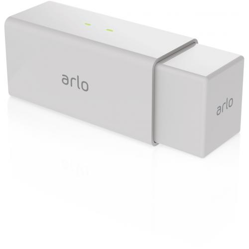 Arlo Pro Charging Station (White)     2 Charging Bays   Designed For Arlo Pro Rechargeable Batteries Only   Dual Charging Bays: Up To 2 Batteries Simultaneously   Get Up To 4X Faster Charging With Fast Charging Technology