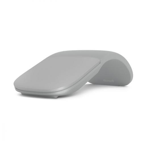 Microsoft Surface Arc Touch Mouse Platinum - Wireless - Bluetooth Connectivity - Ultra-slim & lightweight - Innovative full scroll plane