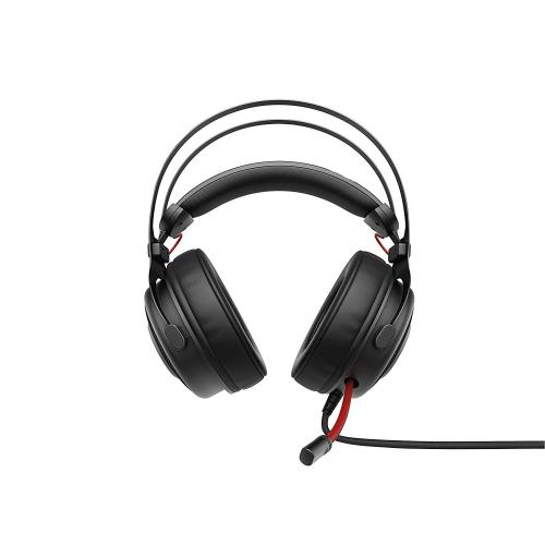 HP OMEN 800 Headset Black & Red   53 Millimeter Driver W/ Large Diameter   Produces Every Footstep W/ Amazing Clarity   Synthetic Leather Wrapped Ear Cups   Comfortably Designed To Block Out Background Noise   Multidimensional Audio