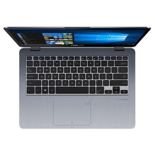 Asus VivoBook Flip TP410UA DH54T 14.0 Inch Touchscreen Intel Core I5 8250U 1.6GHz/ 8GB DDR4/ 256GB SSD/ USB3.0/ Windows 10 Notebook (Star Gray)