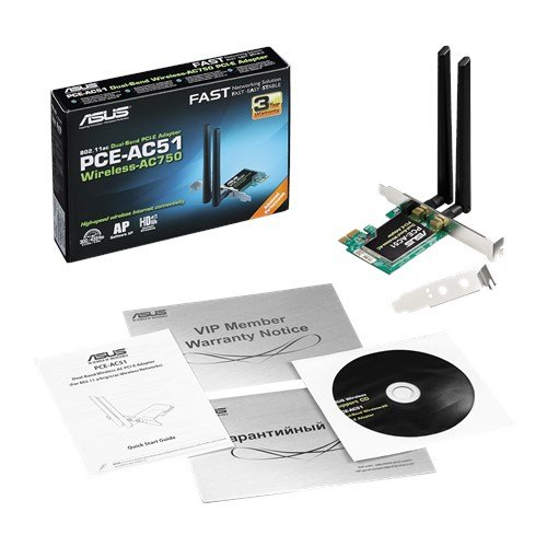 Asus PCE AC51 IEEE 802.11ac Wi Fi Adapter For Desktop Computer