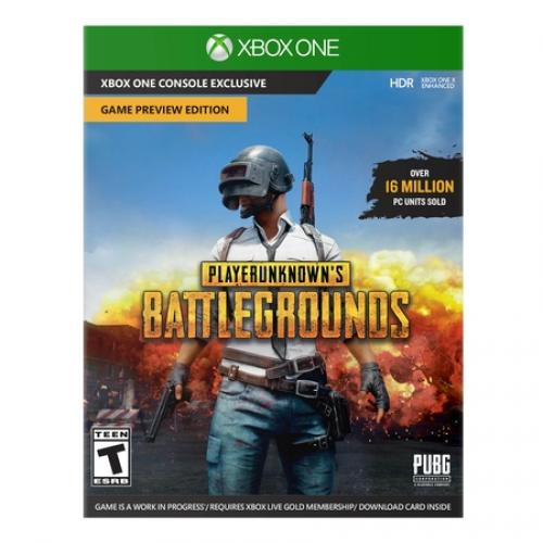 PlayerUnknown's Battlegrounds Game Preview Edition Xbox One  -  Xbox One X enhanced - ESRB Rated T - Action/ Adventure game - Battle Royale mode - Claim victory!