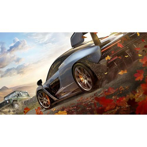 Forza Horizon 4 Xbox One   Xbox One Supported   ESRB Rated E (Everyone)   Racing Game   Collect Over 450 Cars   Race. Stunt. Create. Explore   Xbox One X Enhanced