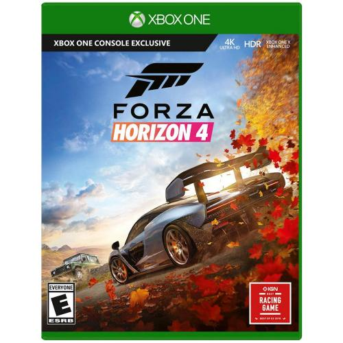 Forza Horizon 4 Xbox One - Xbox One supported - ESRB Rated E (Everyone) - Racing Game - Collect over 450 cars - Race. Stunt. Create. Explore - Xbox One X Enhanced