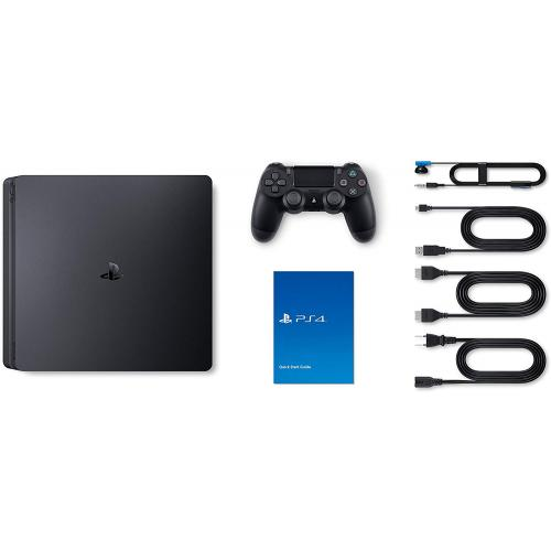 PlayStation 4 Slim 1TB Console Black   PS4 Console & Dualshock 4 Controller Included   8GB RAM 1TB HDD   AMD Jaguar Octa Core CPU   Vibrant HDR Gaming   Play Online W/ Friends!
