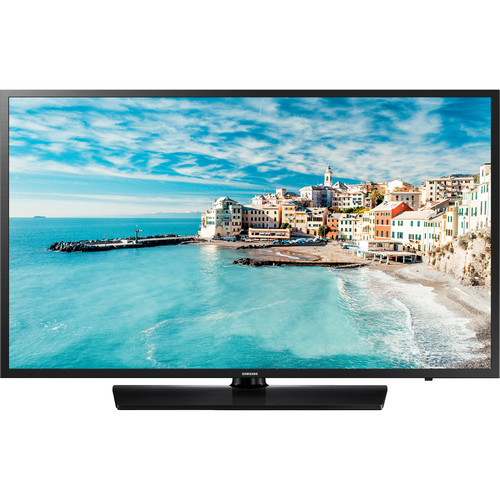 """Samsung 477 Series 32"""" Non-Smart Hospitality LCD TV - Equipped w/ Pro: Idiom MPEG4 technology - Samsung LYNK REACH 4.0 technology for hotels - Swivel stand rotates up to 90 degrees in both directions - Direct-Lit LED technology"""