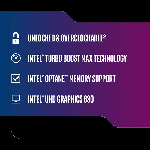 Intel Core I7 9700K Desktop Processor   8 Cores & 8 Threads   Up To 4.9 GHz CPU Speed   LGA1151 300 Series   Intel UHD Graphics 630   Intel Optane Memory Supported