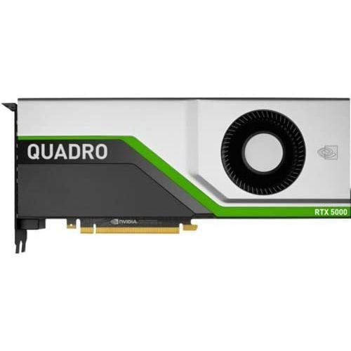 HP NVIDIA Quadro 5000 Graphic Card - 16 GB of GDDR6 VRAM - 3072 CUDA Cores - Turing Architecture - 348 Tensor Cores - DisplayPort