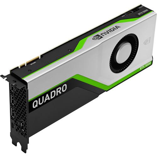 HP NVIDIA Quadro 5000 Graphic Card   16 GB Of GDDR6 VRAM   3072 CUDA Cores   Turing Architecture   348 Tensor Cores   DisplayPort