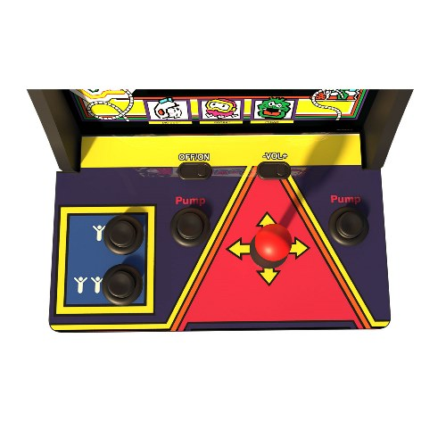 Arcade1Up Dig Dug & Dig Dug II Countercade Arcade System   2 Games In 1 (Dig Dug & Dig Dug II)   Real Feel Arcade Controls   Coinless Operation   Player Can Adjust Volume   On Screen Game Selection Menu   Plugs Into AC Outlet