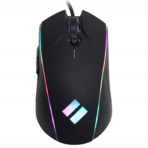CyberpowerPC Syber SM202 Wired RGB Gaming Mouse   Up To 12,400 Dpi Optical Sensor   7 Buttons Total W/ 5 Programmable   Ergonomic Design   DPI Switching   5 Million+ Clicks