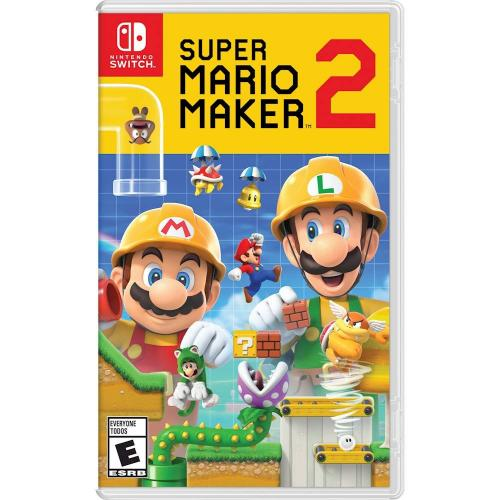 Nintendo Super Mario Maker 2 - For Nintendo Switch - ESRB Rated E (Everyone) - Action/ Adventure game - Multiplayer supported - Customize almost everything in your courses - Choose from various classic themes