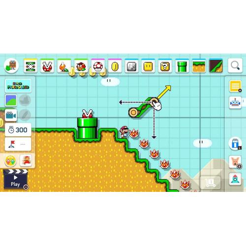 Nintendo Super Mario Maker 2   For Nintendo Switch   ESRB Rated E (Everyone)   Action/ Adventure Game   Multiplayer Supported   Customize Almost Everything In Your Courses   Choose From Various Classic Themes