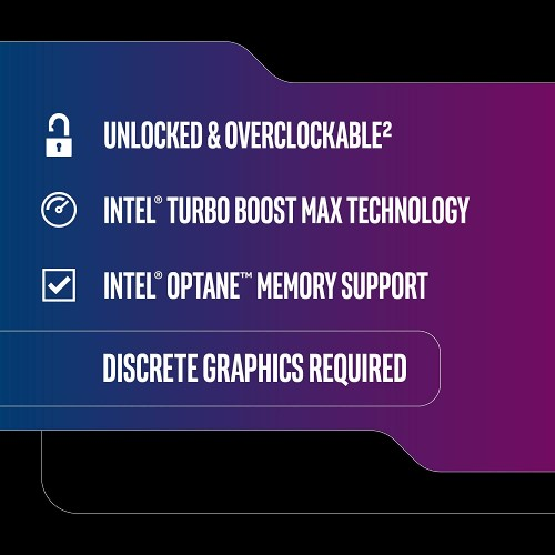 Intel Core I7 9700KF Desktop Processor   8 Cores & 8 Threads   Up To 4.9 GHz Turbo Speed   12 MB Intel Smart Cache   Compatible W/ Motherboards W/ Intel 300 Series Chipsets   Intel Optane Memory Ready